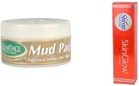 Clear Face Mud Pack Refines & Softness Skin Texture With Skinglow Cream (Set Of 2)