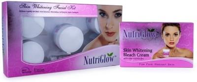 NutriGlow NutriGlow Skin Whitening Treatment Skin Whitening Facial Kit & Skin Whitening Bleach Cream Set of 2