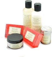 Khadi Soft & Smooth Skin Care Kit Of Soaps, Creams, Face Wash & Pack (Set Of 6)