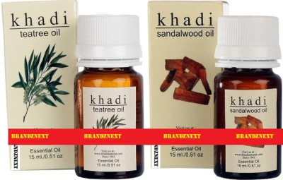 Khadi Essential Oil Combo - 4 (Tea Tree & Sandal) (Set Of 2)