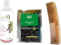 Lass Naturals Iht9 Hair Oil With Iht9 Natural Black Hair Colour +Neem Wood Hair Comb LC-2 (Set Of 3)