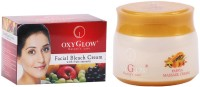 Oxyglow Facial Bleach Cream With Fruit Extracts & Papaya Massage Cream (Set Of 2)