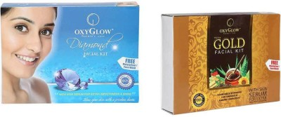 Oxyglow Combos and Kits Oxyglow Gold Facial Kit & Diamond Facial Kit