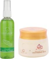 Oxyglow Cucumber Skin Toner & Saffron With Vitamin-E Gold Massage Cream (Set Of 2)
