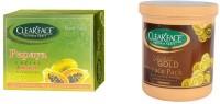 Clear Face Papaya Facial Kit With 24 Carat Gold Face Pack (Set Of 2)