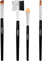 PANACHE Gorgeous Combo - Eye Shadow Brush Angular,Lash Brusher & Brow Comb Sponge Applicator And Lip Brush (Set Of 4)