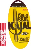 Maybelline Baby Lips Cherry Kiss And Colossal Kajal Combo (Set Of 2)