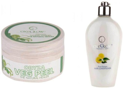 Oxyglow Combos and Kits Oxyglow Oryza Veg Peel & Fruit Extract Hair Conditioner
