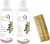 Lass Naturals Iht9 Hair Oil With Iht9 Hair Regrowth Shampoo+Neem Wood Hair Comb LC-3 (Set Of 3)