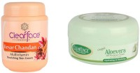 Clear Face Kesar Chandan Nourishing Skin Cream With Aloevera Cream (All Purpose) (Set Of 2)