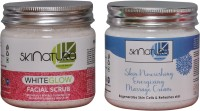 Skinatura WHITE GLOW FACIAL SCRUB & SKIN NOURISHING MASSAGE CREAM (Pack Of 2) (Set Of)