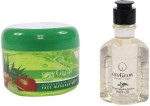 Oxyglow Combos and Kits Oxyglow Aleo Vera & Apple Face Massage Gel & Bhringaraj Regrowth & Revitalising Hair Oil