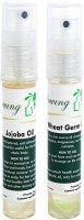 Glowing Buzz Combo Of 1 Jojoba Tree Essential Oil And 1 WheatGerm Essential Oil (Set Of 2)