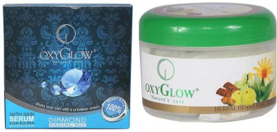 Oxyglow Combos and Kits Oxyglow Diamond Facial Kit & Harbal Hair Heena Treatment