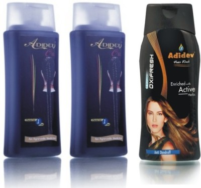 Adidev Herbals Combos and Kits Adidev Herbals Herbal Hair Oil with Antidandruff Shampoo
