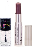 Color Fever 924 Topcoat Nail Polish+Wine Shine Lipstick (Set Of 2)