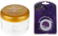 Oxyglow Saffron With Vitamin-E Gold Massage Cream & Lip Balm (Set Of 2)