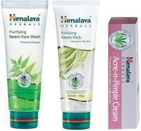 Himalaya Herbals Acne-N-Pimple Care Kit (Set Of 3)