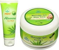Pavo Aloe Vera Face Wash & Massage Gel (Set Of 2)