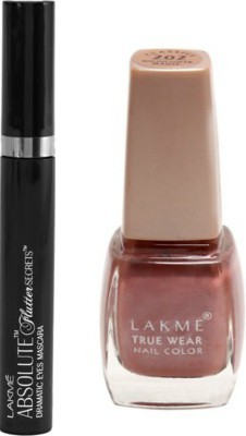 Flipkart: Lakme Mascara & Nail Color Combo(Set of 2) @ Rs. 495 (40% OFF)