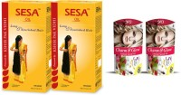 Ban Lab Sesa Hair Oil With Glow And Charm Facial Kit (Set Of 4)