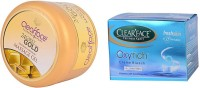 Clear Face 24 Carat Gold Dust Almond Oil Massage Gel With Oxyrich Cream Bleach (Set Of 2)