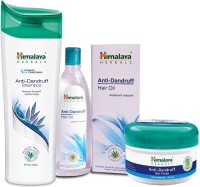 Himalaya Herbals Anti-Dandruff: Hair Cream Hair Oil Shampoo (Set Of 3)