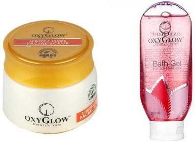 Oxyglow Combos and Kits Oxyglow Apricot & Jojoba Facial Scrub & Bath Gel Pink