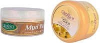 Clear Face Mud Pack & Gold Dust Almond Oil Massage Gel (Set Of 2)