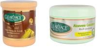 Clear Face 24 K Multi Vitamin Scrub Skin Rejuvenator & Aloevera Cucumber Multi Purpose Facial Cream (Set Of 2)
