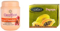 Clear Face Kesar Chandan Multivitamin Nourishing Skin Cream With Papaya Facial Kit (Set Of 2)