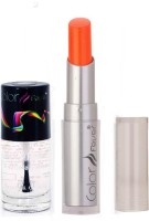 Color Fever 952 Topcoat Nail Polish+Neon Lipstick (Set Of 2)