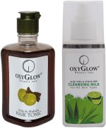 Oxyglow Combos and Kits Oxyglow Amla & Shikakai Hair Toinc & Aleo Vera & Citrus Deep Cleansing Milk