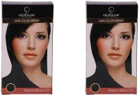 Oxyglow Hair Colour Cream-Black & Hair Colour Cream-Black (Set Of 2)