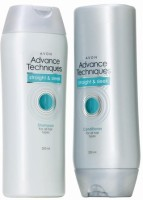 Avon Advance Techniques Straight & Sleek Shampoo And Conditioner Combo Pack (200 Ml Each) (Set Of 2)