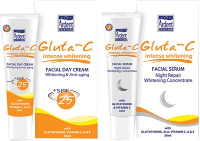 Gluta Intense Whitening SPF-25 Facial Day Cream & Night Serum (Set Of 2)