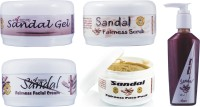 Adidev Herbals Ayurvedic Herbal Sandal Instant Glow Fairness Face Pack (Set Of 5)