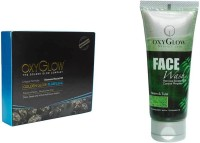 Oxyglow Golden Glow Flawless Daimon Facial Kit & Neem & Tulsi Face Wash 100gm (Set Of 2)