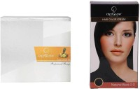 Oxyglow Fruit Facial Kit & Hair Colour Cream-Black (Set Of 2)