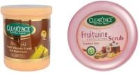 Clear Face 24 K Multi Vitamin Scrub Skin Rejuvenator & Fruitwine Facial Kit (Set Of 2)