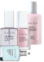 Avon Combos and Kits Avon Nail Experts Conditioning Nail Enamel Remover + Peeling & Brittleness Solver + Smooth Beginnings Base Coat + UV Gloss Guard Top Coat