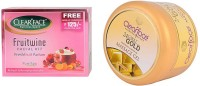 Clear Face Fruit Wine Facial Kit & Gold Dust Almond Oil Massage Gel (Set Of 2)