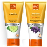 VLCC Sweat Free SPF 40 And Clear Tan Fruit Face Pacjk (Set Of 2)