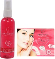 Oxyglow Rose Petal Refershing Skin Toner & Pearl Facial Kit (Set Of 2)