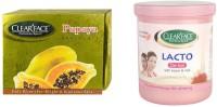 Clear Face Papaya Facial Kit & Lacto De-Tan With Kesar & Milk (Set Of 2)