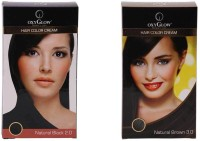 Oxyglow Hair Colour Cream-Black & Hair Colour Cream-Brown (Set Of 2)
