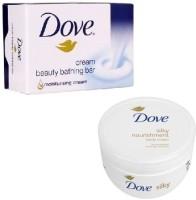 Dove Dove Bathing Soap And Nourishment Cream (Set Of 2)