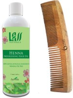 Lass Naturals Henna Hair Oil With Neem Wood Comb Lc-2 (Set Of 2)