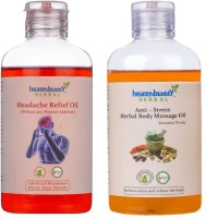 Healthbuddy Herbal - Headache Relief Oil, 200ml & Anti Stress Body Massage Oil, 200ml (Set Of 2)