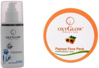 Oxyglow Intensive Moisturizing Lotion & Papaya Face Pack (Set Of 2)